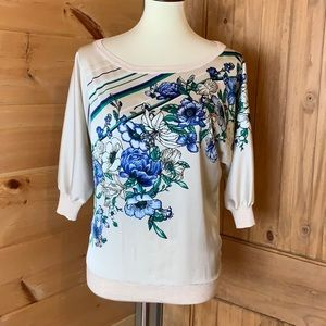 White House Black Market floral top Size Small